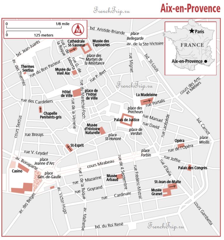 Aix-en-Provence map