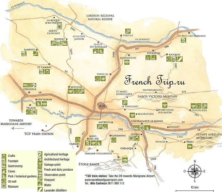 Окрестности Aix-en-Provence