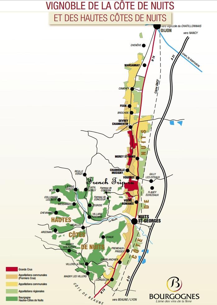 Достопримечательности вокруг Дижона - винная дорога - Виноградники Hautes Cotes de Nuits