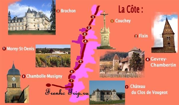 Достопримечательности и экскурсии вокруг Дижона - La Côte