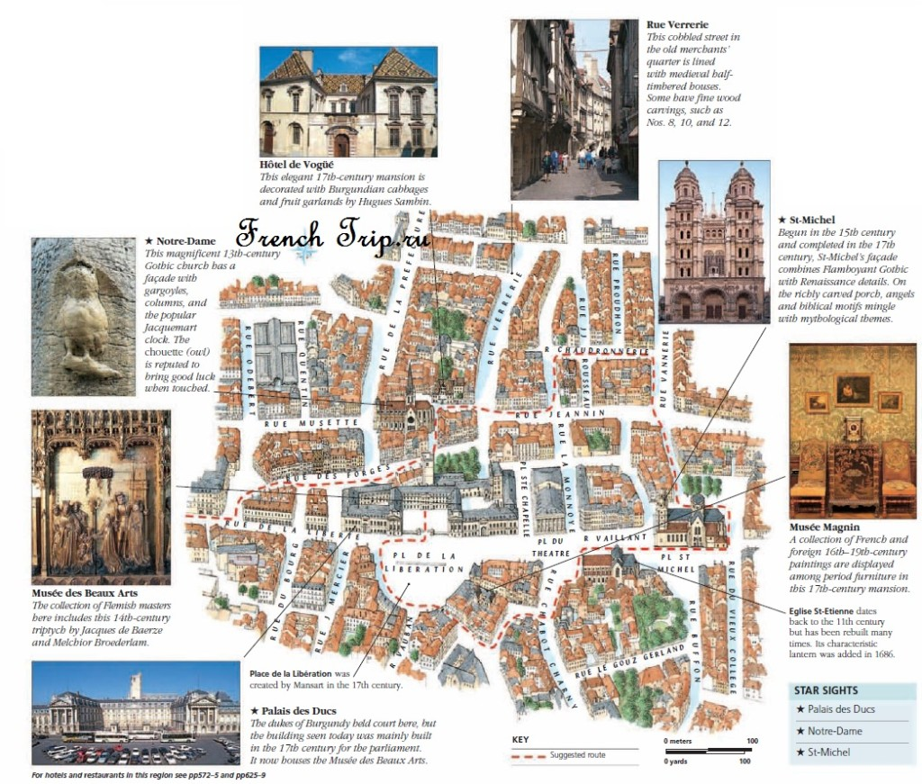 Туристический маршрут по Дижону с картой и достопримечательностями