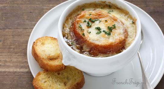 французский луковый суп Франция традиционная кухня рецепты как готовить специалитеты оригинальные блюда из Франции