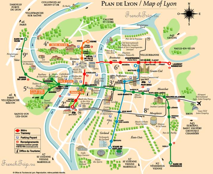 Lyon -map-transport