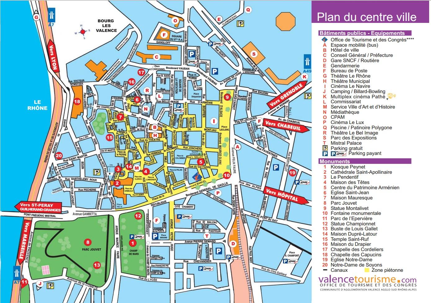 Достопримечательности Валанса, гид по Валансу, карта Валанса, Valence map, Valence sights, Valence guide, Valence travel guide, путеводитель по Валенску скачать бесплатно, путеводитель по Валенсу, гид по Валенсу