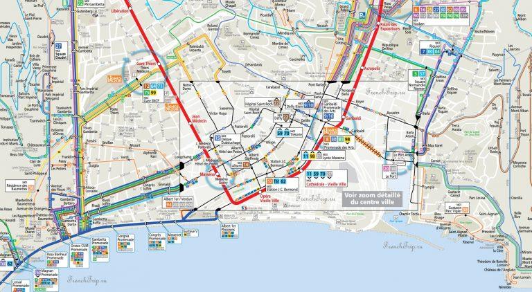 Схема транспорта в Ницце - транспорт Ниццы