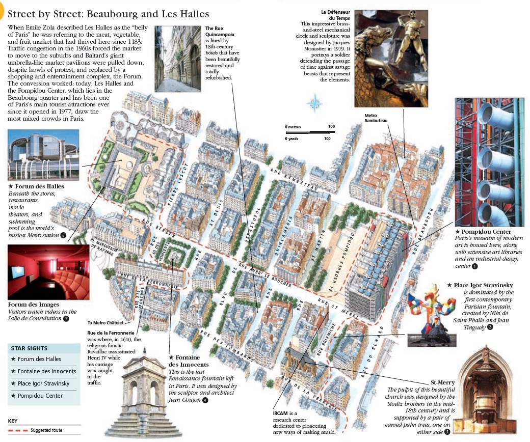 Туристический маршрут по кварталу Les Halles в Париже: карта и достопримечательности от FrenchTrip.ru