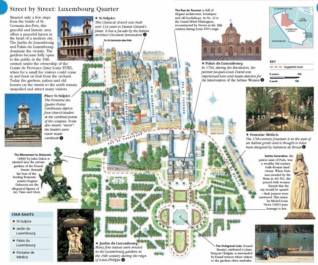 Маршрут по Парижу: Люксембургский дворец и сад - путеводитель с картой. Что посмотреть в Париже, достопримечательности Парижа. Путеводитель по Парижу