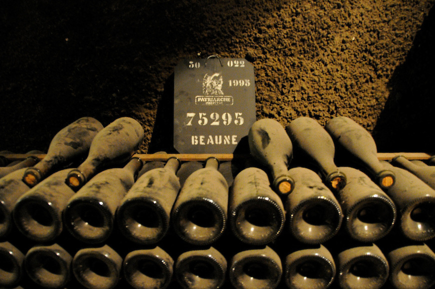 Винный погреб в Боне - бургундские вина