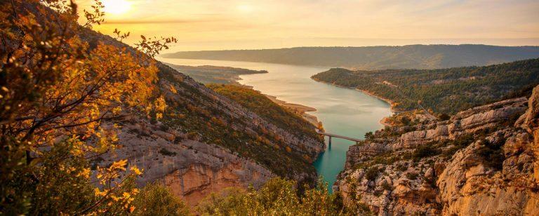 Самые красивые ландшафты Франции - Lac de Castillon - Вердонское ущелье