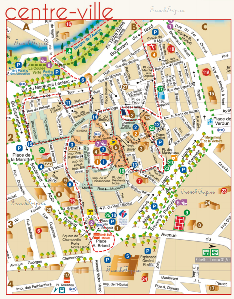 Carpentras-tourist-map
