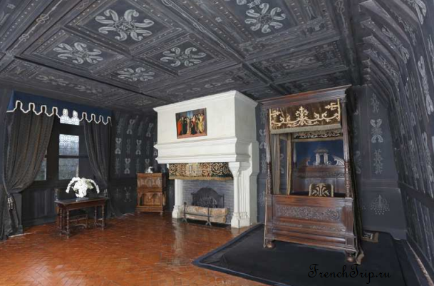 Château Chenonceau Loire castles Замок Шенонсо Спальня луиЗы лотарингской