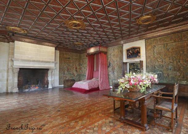 Château Chenonceau Loire castles Замок Шенонсо Спальня пяти королев