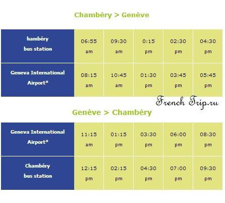 На автобусе в Шамбери: Расписание автобусов из аэропорта Женевы в Шамбери: путеводитель по Шамбери