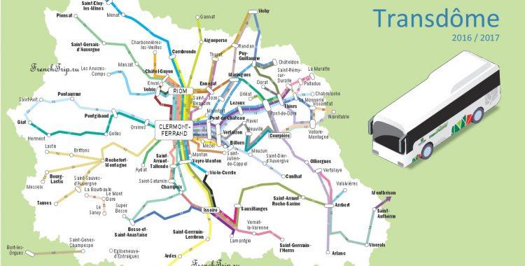 Clermon-Ferran-bus-network-map-vulcano