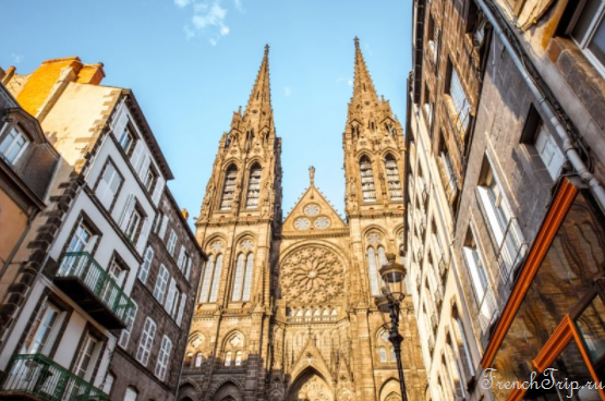 Clermont-Ferrand - Клермон-Ферран - достопримечательности, маршрут по городу, что посмотреть, фото - cathedral