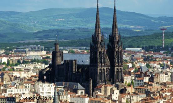 Clermont-Ferrand - Клермон-Ферран - достопримечательности, маршрут по городу, что посмотреть, фото - panorama black