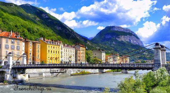 Достопримечательности Гренобля, туристический маршрут по Греноблю с отмеченными достопримечательностями и описанием