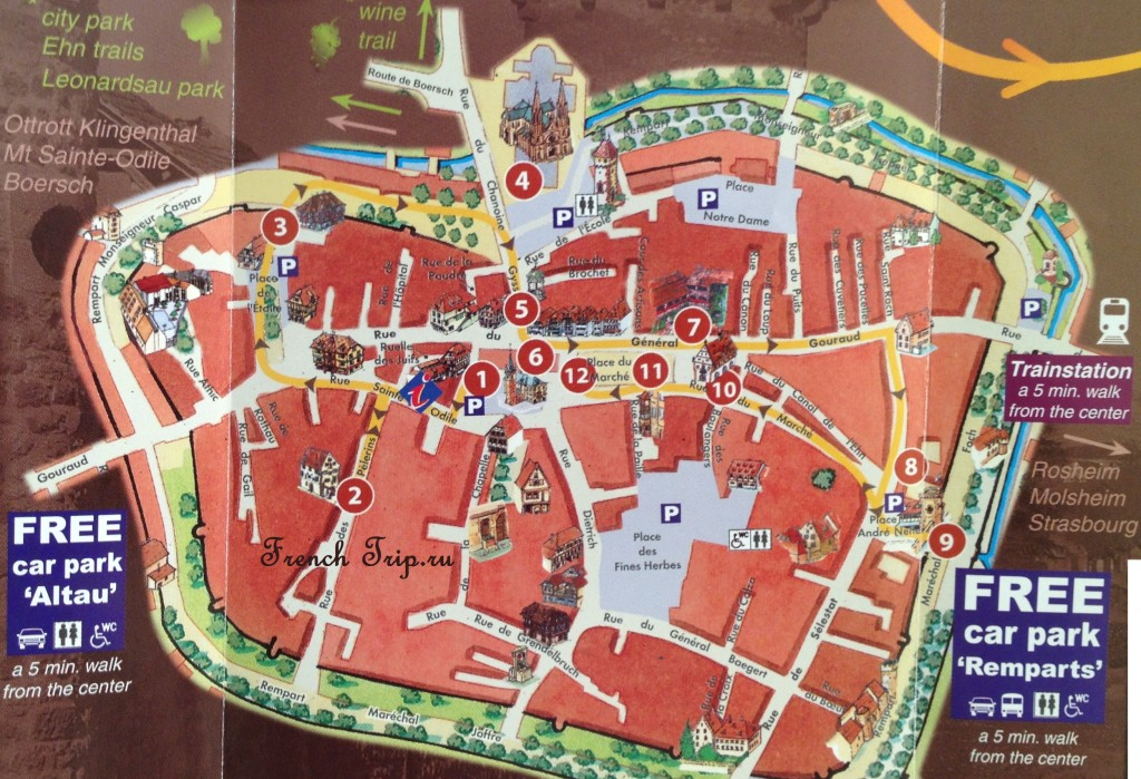 Туристический маршрут по Оберне: карта с отмеченными достопримечательностями