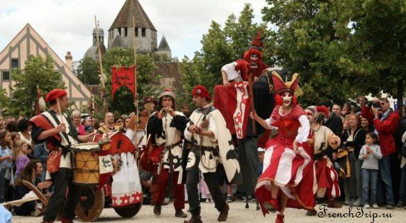 Провен (Provins), Франция - достопримечательности, путеводитель по городу, средневековый фестиваль в Провене, в окрестностях Парижа, Иль де Франс