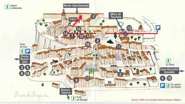 Saint-Antoine-l Abbaye -map