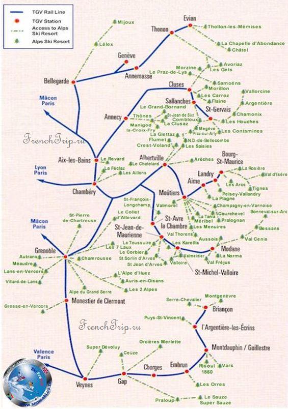 Проезд к горнолыжным курортам Франции, Горнолыжные курорты Франции, курорты на карте, Шамони, Куршавель, Марибель, горные лыжи во Франции, французские горнолыжные курорты, список горнолыжных курортов во Франции, France ski resort, french ski resort, chamonix, удаленность горнолыжных курортов от аэропортов
