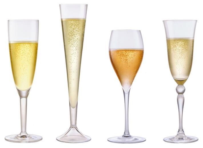 Шампанские вина - бокалы для шампанского