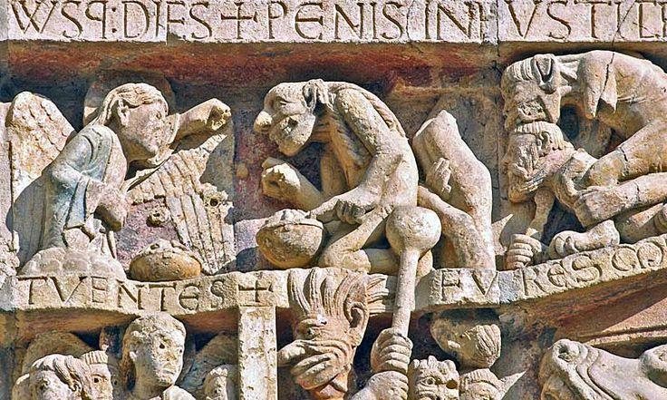 Conques - Конк, Франция, регион Миди-Пиренеи - романский декор - паломнический маршрут Сантьяго де Компостела