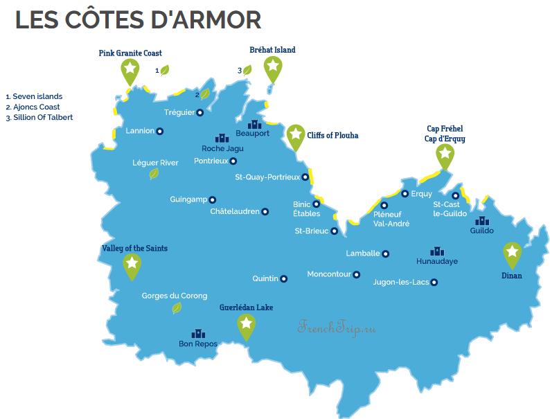 LES CÔTES D ARMOR - Ploumanach-Bretagne-map