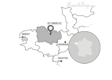 Ploumanac_St-Brieuc-Localisation map - Ploumanac'h (Плуманак), Берег розового гранита