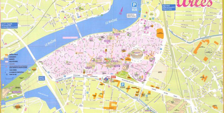 Туристическая карта города Арль
