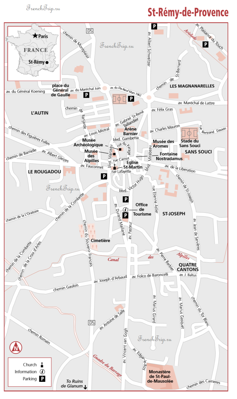 St-Remy-de-Provence Map Frommers