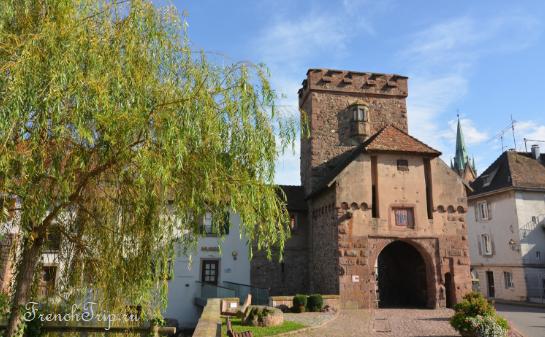 Cernay (Серне) - небольшой городок в окрестностях Мюлуза, Эльзас - достопримечательности, путеводитель по городу, аббатство
