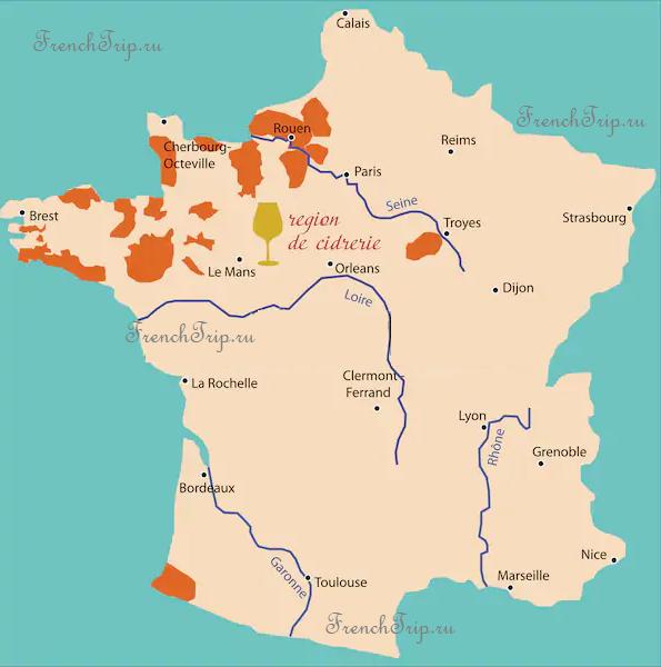 Cirde region France map