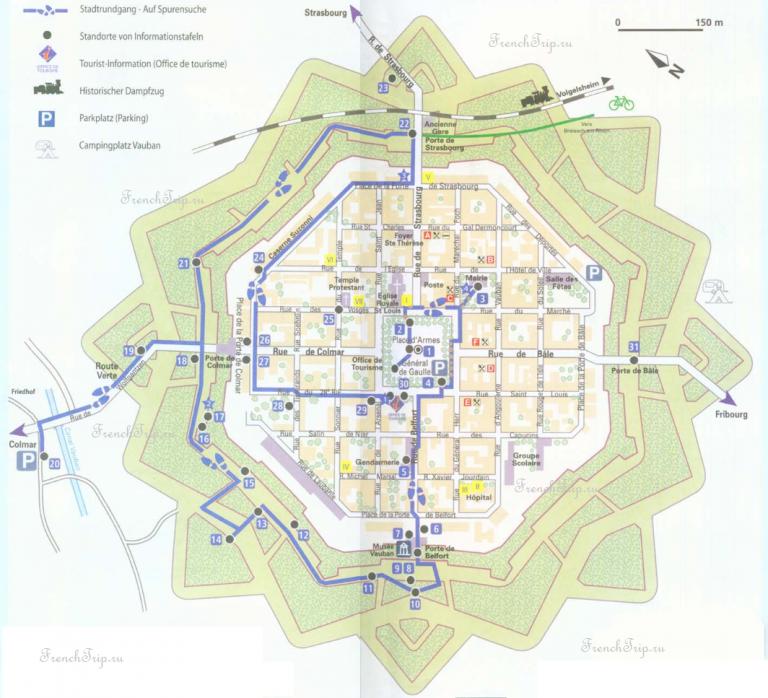 Туристический маршрут по городу Неф-Бризах