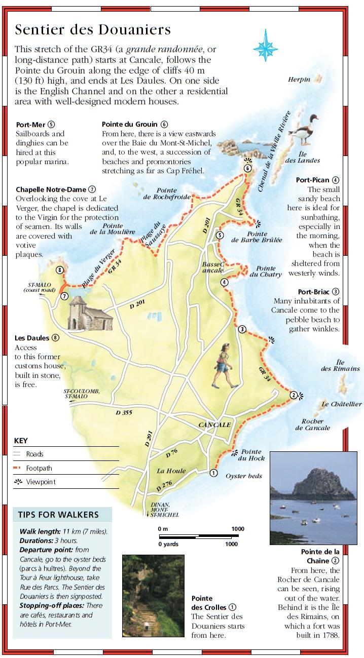 Туристический маршрут Sentier des Douaniers, Бретань, Франция - достопримечательности Бретани, путеводитель по Бретани и Франции. Что посмотреть в Бретани, Sentier des Douaniers с картой, карта маршрута Sentier des Douaniers, маршрут Sentier des Douaniers, Франция, города Франции, достопримечательности во Франции, активный отдых во Франции, Бретань, что посмотреть в Бретани, туристические маршруты по Бретани, Бретань Франция, Бретань, города Франции, French Trip, путеводители FrenchTrip, активный отдых во Франции