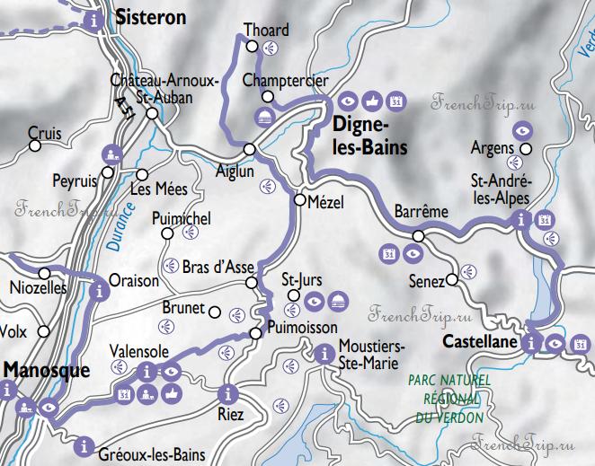 Lavender route Provence PUIMOISSON - DIGNE-LES-BAINS, Manosque, Sisteron, Riez, Valensole, Moustiers St Marie, Dignes le Bains, Castellane