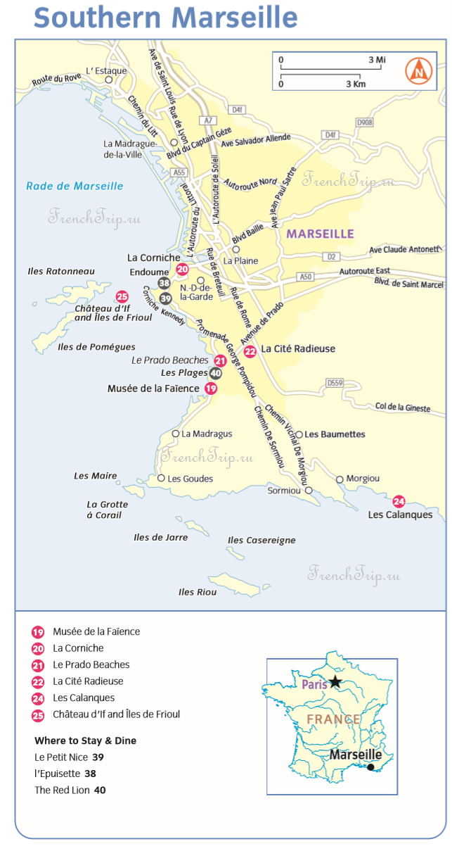 Marseille_map_Souther Marseille sights