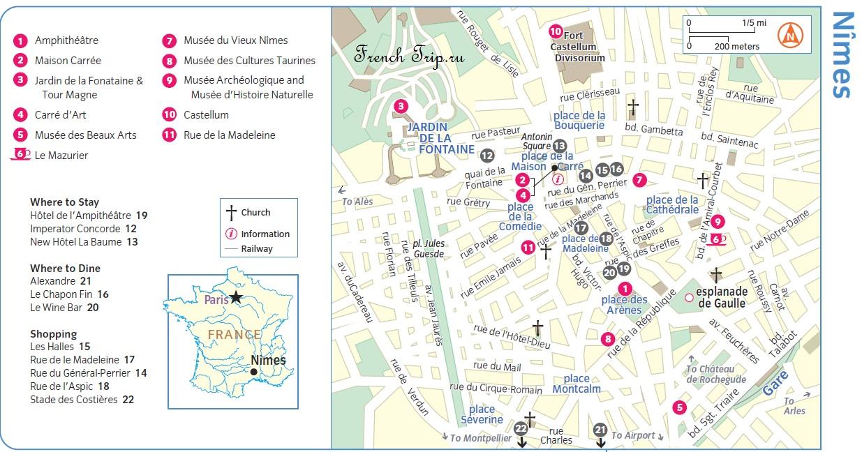 Nimes-map