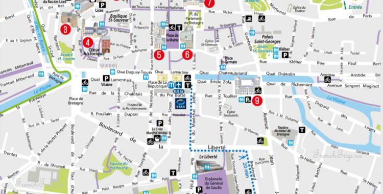 Туристический маршрут по Ренну, Обзорный маршрут по Ренну