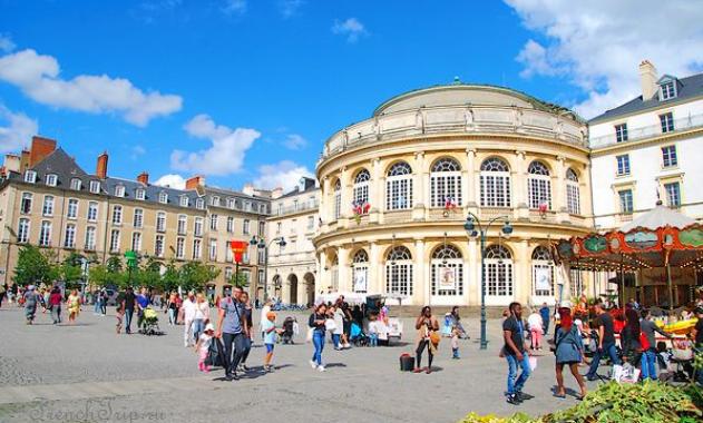 Опера Ренна Rennes (Ренн), Бретань, Франция - достопримечательности, путеводитель