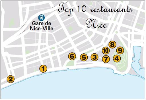 Топ-10 ресторанов в Ницце