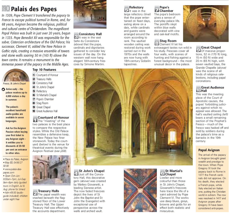 Топ-10 лучших деталей Папского дворца Авиньона