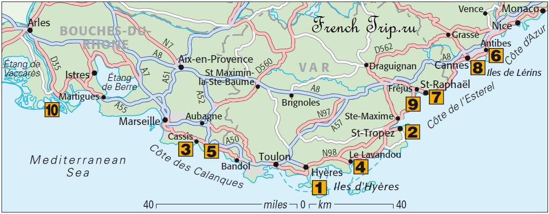 Топ-10 пляжей в Провансе