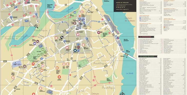 treguier map sights parking