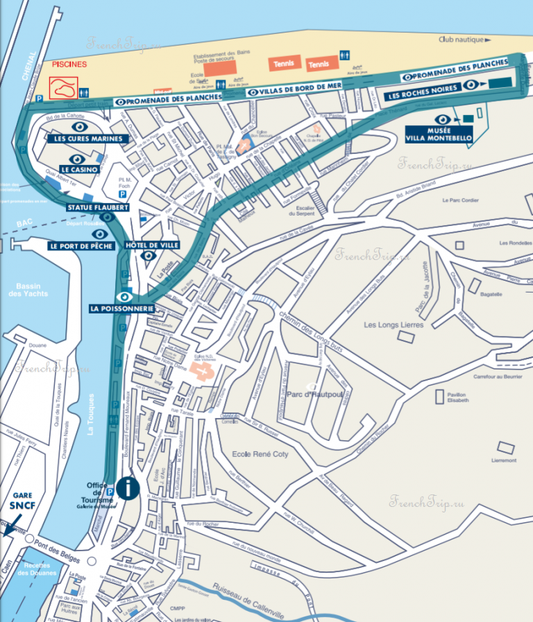 Trouville-sur-Mer travel guide_map