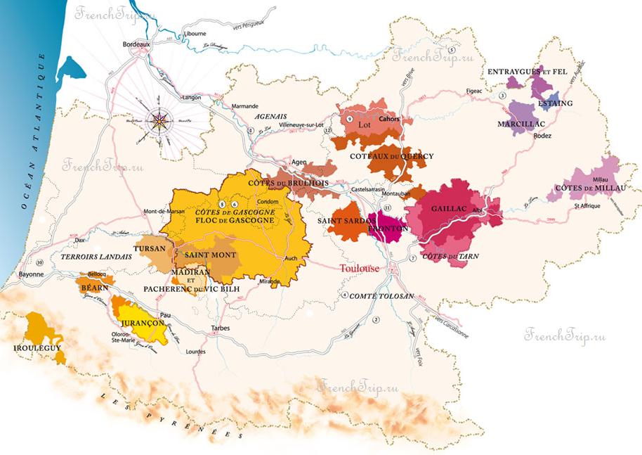 Wine Vineyards South-west france, Cahors, Cotes de Gascone, Tursan, Juranson, Marcillac, estang, coteaux du Quercy