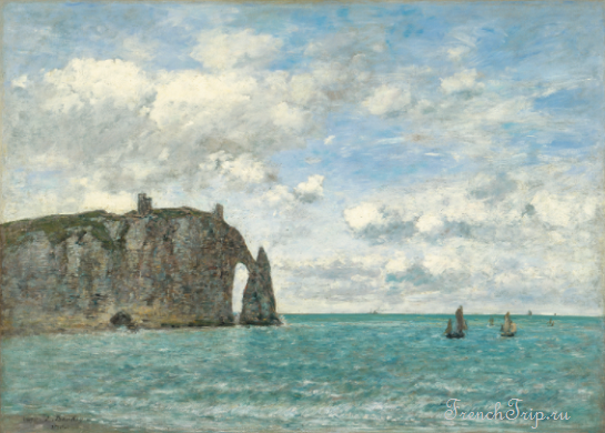 Étretat. The Cliff of Aval - Boudin, Eugène