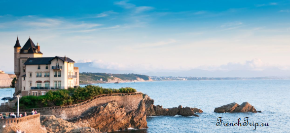 Biarritz (Биарриц), Франция - достопримечательности, путеводитель по городу. Путеводитель по Франции, города Франции. Добраться в Биарриц: на самолете, на поезде, на автобусе