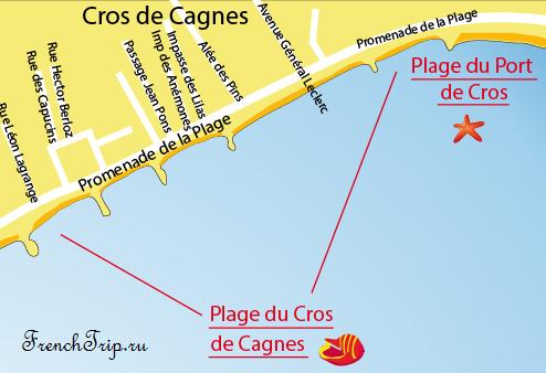 Cagnes-sur-Mer-beach-map