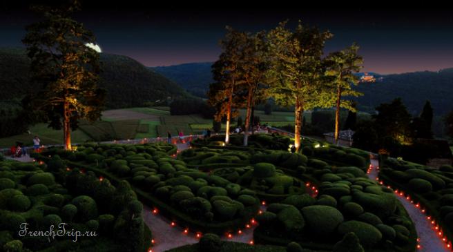 Marqueyssac Gardens Dordogne night